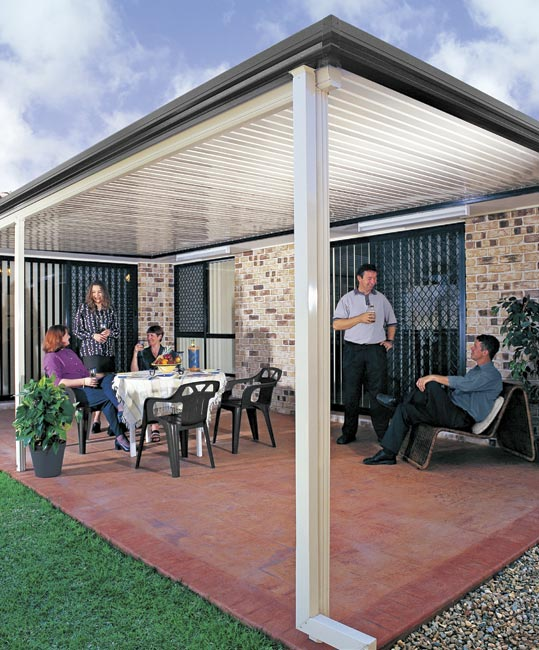 Flat Roof Stratco Outback For Any Outdoor Area