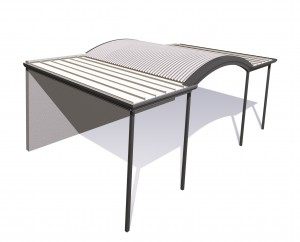 curved stratco outback from stonglife patios and carports