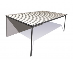 Flat Roof Stratco Outback from Stronglife Patios and Carports