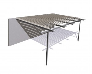 Pergola Shade Blade Stratco Outback from Stronglife Patios and Carports